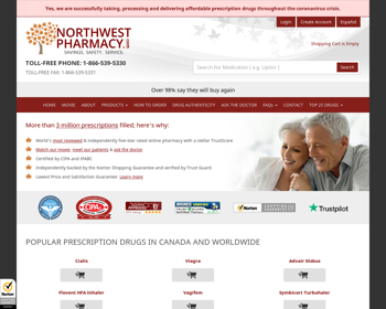 Northwest Pharmacy Review - An Online Pharmacy With Fake Testimonials