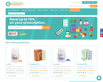 Safe Generic Pharmacy Review - A Suspicious Online Pharmacy With No Customer Reviews