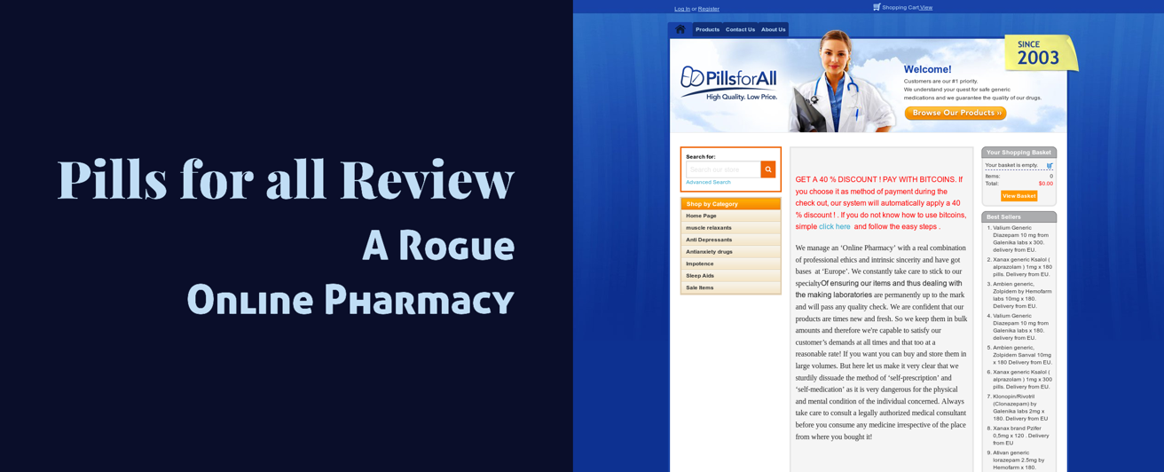 Pills For All Review – A Rogue Online Pharmacy